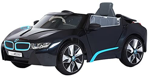 BMW i8 RideOn Car in schwarz.