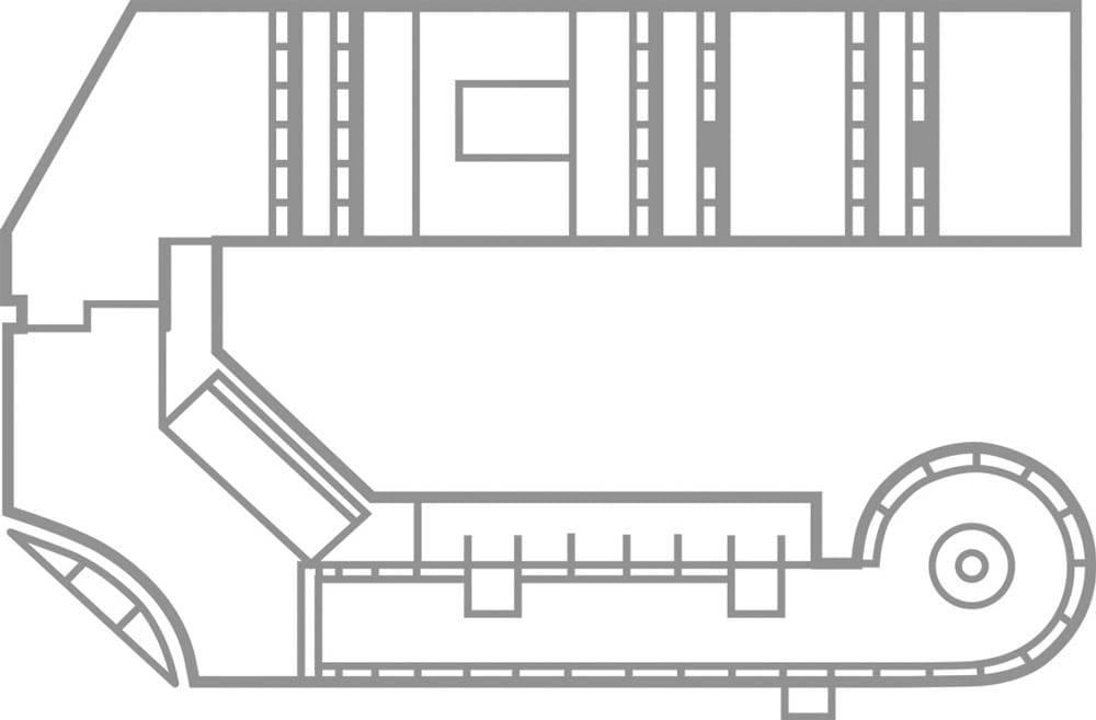 Grundriss des Bürogebäudes